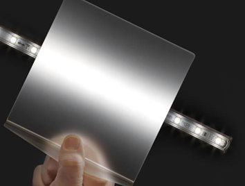 Acrylic, Polycarbonate Sheet and Polycarbonate Film help diffuse LED hot spots. Learn more at Curbell Plastics.
