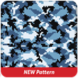 Digital Camo Blue Heavy Transfer Paper