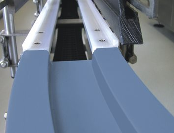 Plastic materials for conveyors in food processing manufacturing plants and beverage processing.