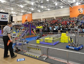SJCI Robotics Team 5590 competes the FIRST Power Up competition at RIT