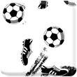 Black & White Soccer Heavy Transfer Paper