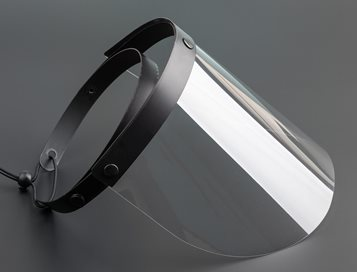 Police anti-riot polycarbonate face shield