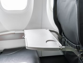 Tray tables are often made from KYDEX® Thermoplastics