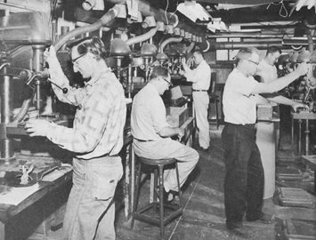 Edmond and Leonard Leone small machine shop, Buffalo NY  - fabricate airline parts from plastic