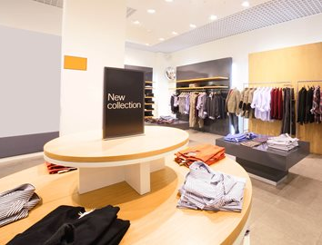 KYDEX® Thermoplastics for Clothing Store Retailer Oval Display Tables