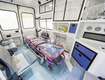 KYDEX® sheet is anti-anti-microbial and durable for emergency vehicle interiors.