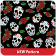 Sugar Skulls Black Heavy Transfer Paper