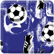 Blue Soccer Heavy Transfer Paper