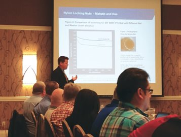 Keith Hechtel and Ryan Nelson,Curbell Plastics Technical Experts, Present to Aerospace Industry
