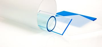 Colored plastic sheets in varying levels of thickness and translucency.